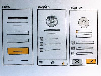 Login Sketch sketching design ux