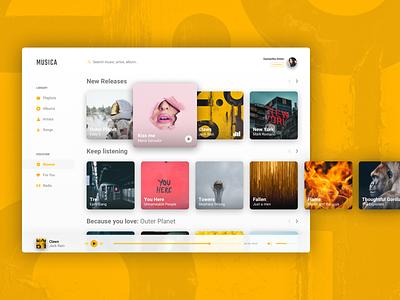 Music Player web sketch ui app design vector