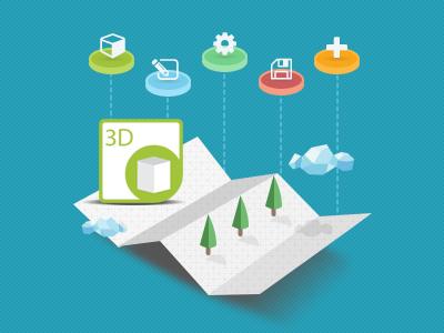 Aspose.3D newsletter graphics flat photoshop