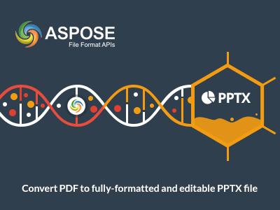 Aspose PDF to PPTX - Banner graphics ai pptx pdf aspose