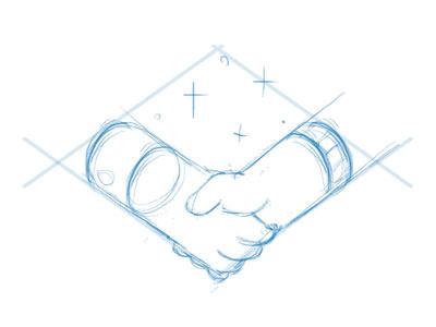 Handshake trading trade shake sketch logo line handshake hands hand contaazul rascunho