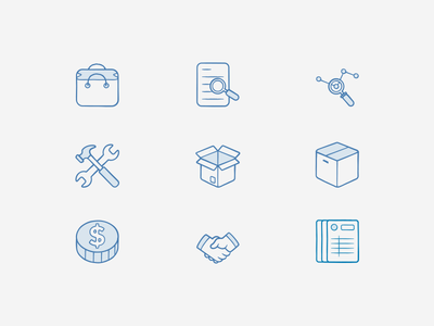 Biblioteca de Ícones  contaazul search box handshake bag coin ícones icons
