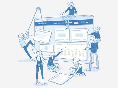 Ilustração para o Portal de Idéias ContaAzul 2017 contaazul ideias de portal