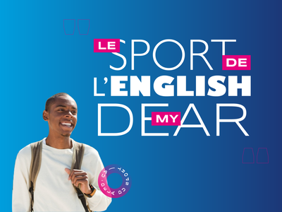 Le sport de l'english my dear sport socialmedia france french typography