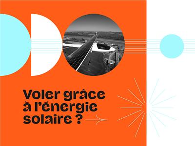 Salon du Bourget typography retrofuturism minimalist illustration