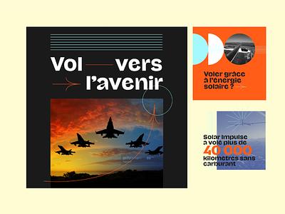 Salon du Bourget retrofuturism minimalist typography illustration
