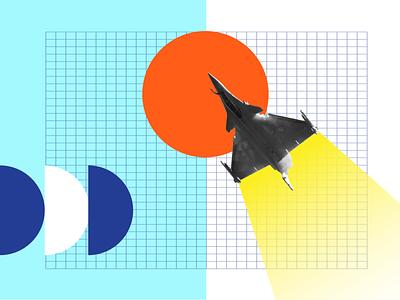 Salon du Bourget socialmedia retrofuturism minimalist typography illustration