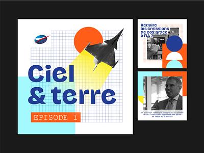 Salon du Bourget retrofuturism socialmedia minimalist typography illustration