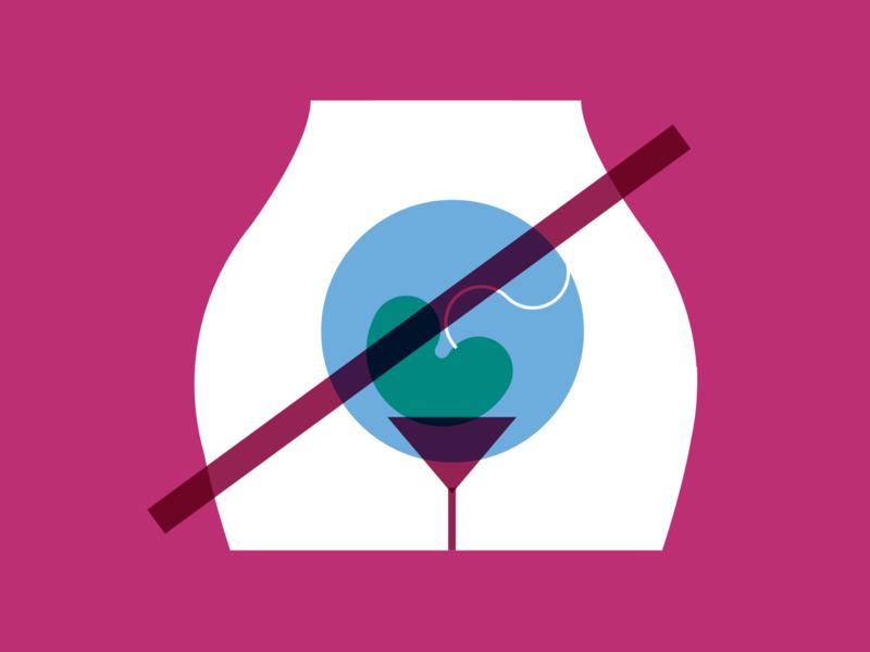 Bladder problems health feminism retro minimalism minimalist illustration