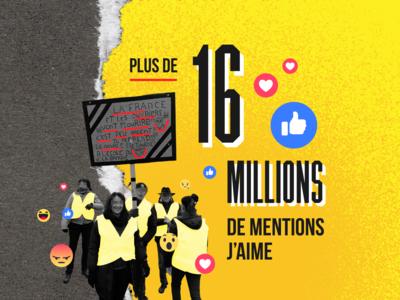 Gilets Jaunes Infographic france politics gilets jaunes typography illustration