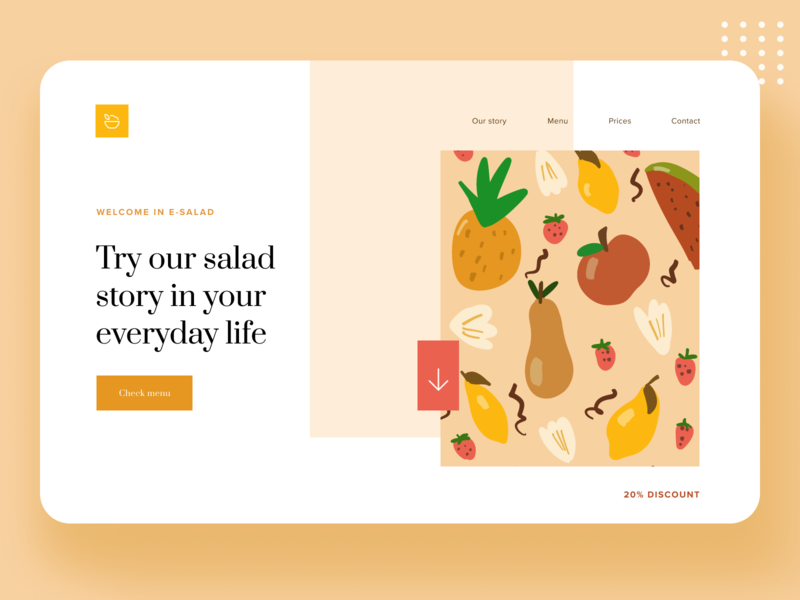 E-salad landing page 🥗 drawing illustration procreate uxui uidesign iu landing landingpage salad