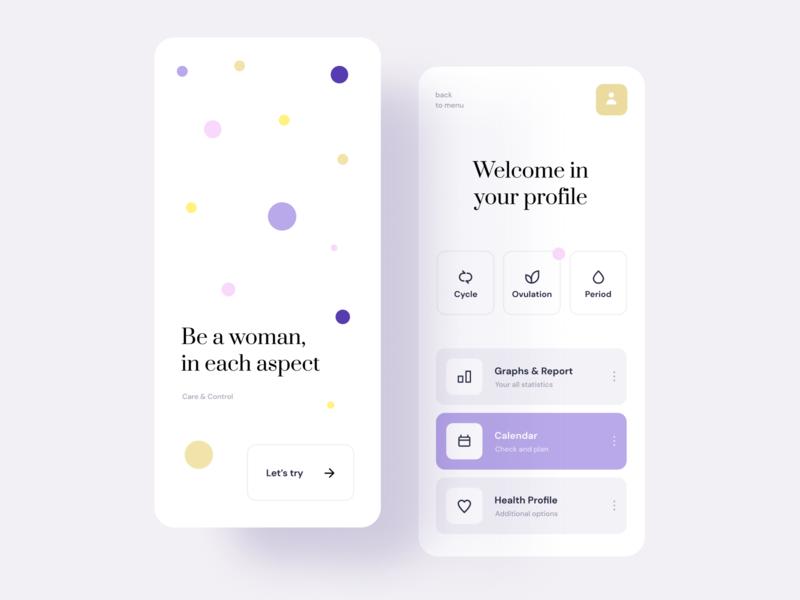 App for women mobile ios app product design mockup uidesign ui uxui