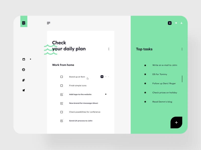 Checklist app ✅ checklist check top task task tasks list checlist desktop product design uidesign ui uxui mockup