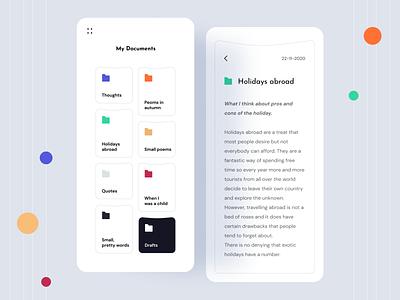 Documents app drive documents product design uidesign ui uxui mockup icon mobile app app adroid ios app mobile ios