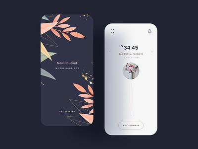 Flower app 💐 ecoomerce buy simple flowers mobile app mobile flower