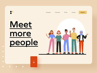 Landing Page mockup ui uxui product design illustartion website landing age