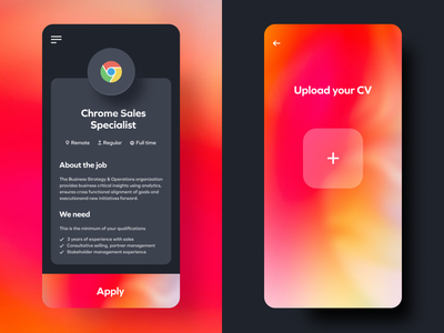 Job Offers iphonex android iphone dark darkmode gradient flat mobile job google ads