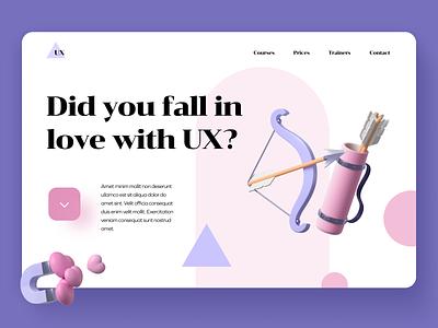 Landing Page 3d uxui product design uidesign ui mockup