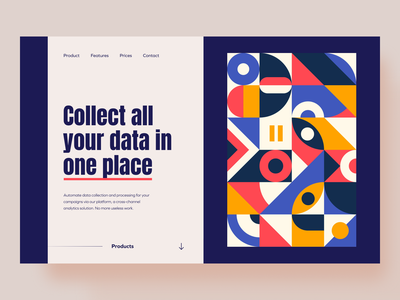 Landing Page Collect Data branding shapes product design uidesign ui uxui mockup