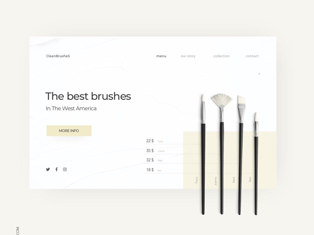 Landing Page beige brushes landing page