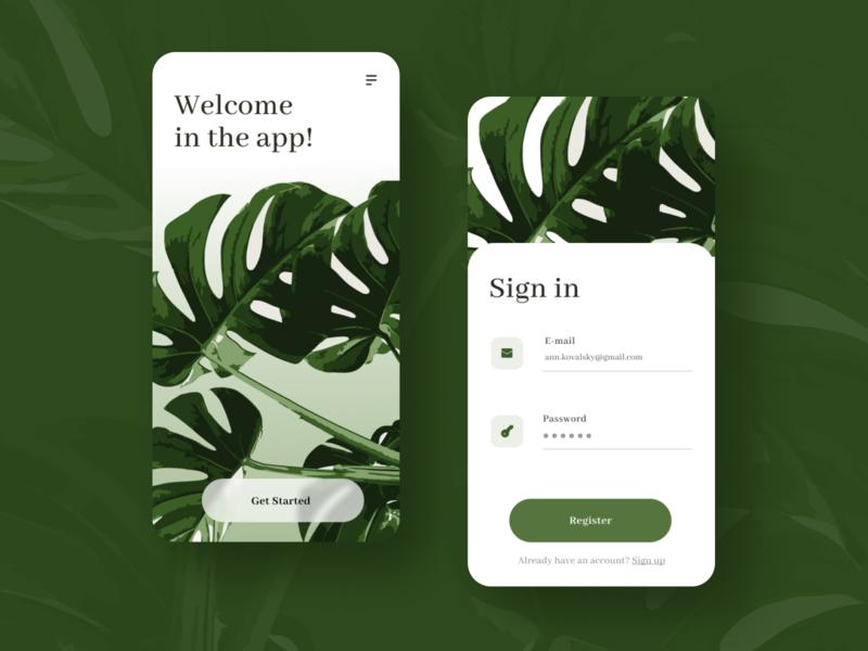 Sign up for mobile app uxui productdesign mockup phone mobile application signin signup register mobile ui mobile app