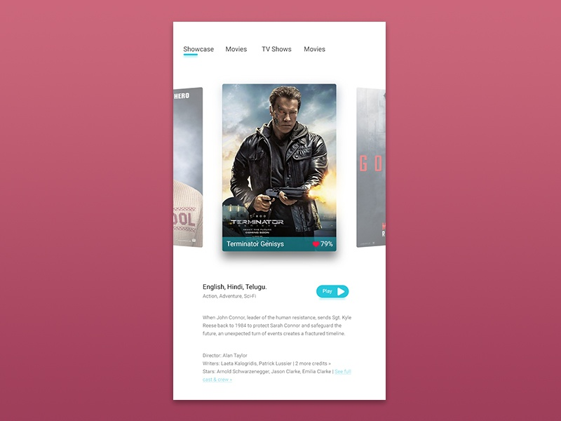 Movies by Manish Dhiman on Dribbble