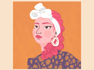 Pink Braid - Illustrative Portrait