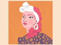 Pink Braid - Illustrative Portrait