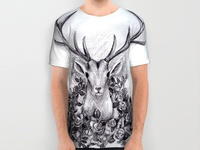 Deer and Roses T-shirt