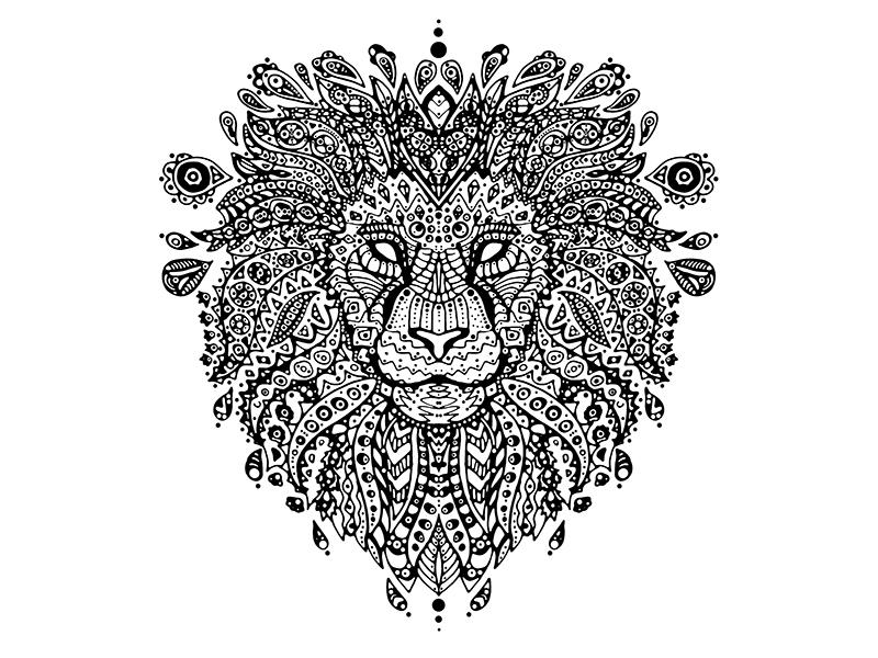 Lion Mandala By Ana Novakovic Dribbble Dribbble