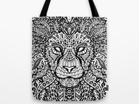 Lion Mandala Tote Bag