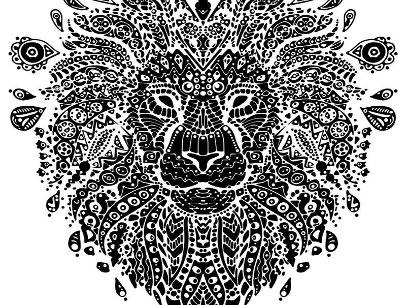 Inverted Lion Mandala By Ana Novakovic Dribbble Dribbble