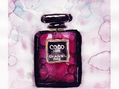 Coco Noir - Chanel Paris - Watercolour