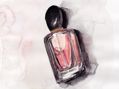 Si by Giorgio Armani - Perfume Bottle Illustration