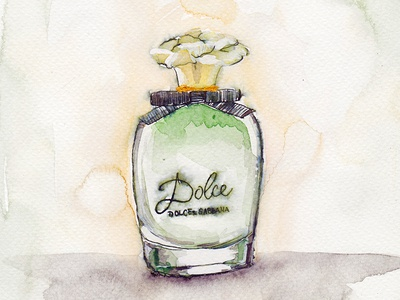 Dolce by Dolce&Gabbana - Perfume Bottle Illustration