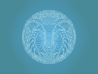 Bear Mandala - Blue
