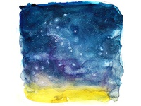 Night Sky 2 - Watercolor Background