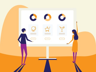 People Looking at the Dashboard - Corporate Illustration Set 1/4