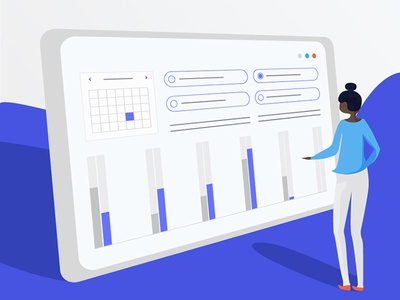Dashboard - Corporate Illustration
