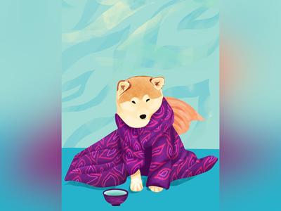 Shiba Inu in a Kimono