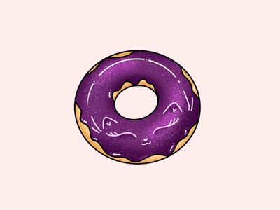 Galaxy cat doughnut