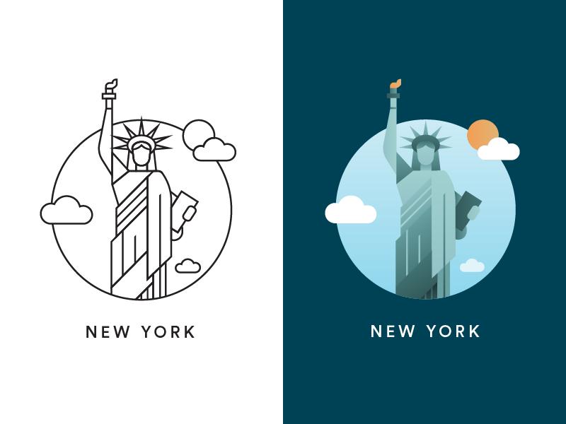 new york city icon by befoolish