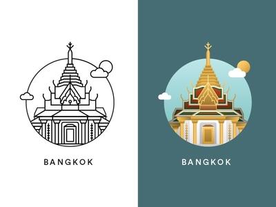 Bangkok city icon