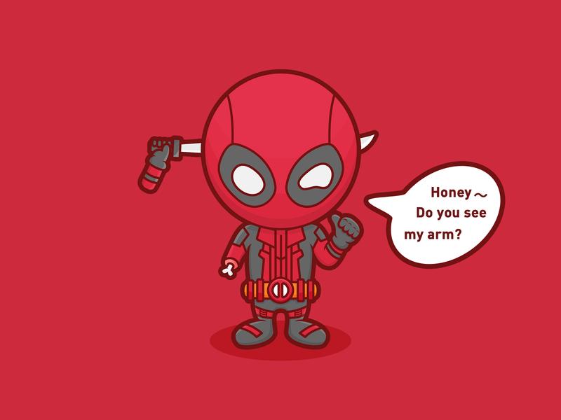 Dead Pool deadpool man arm knife superhero x men red character marvel illustration