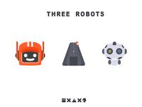 Three robots