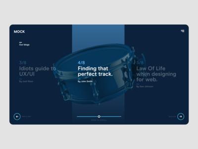Case Study / Blog UI