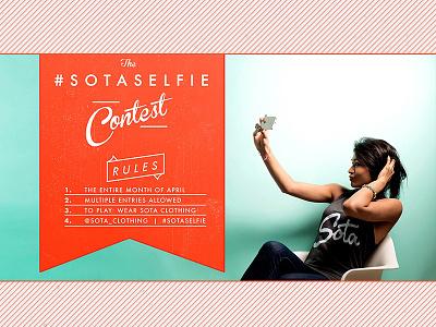 the sota selfie sota selfie contest rules banner web design facebook graphic