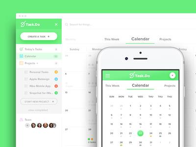 Task Manager Web App team to-do list timer web application app responsive manager project calendar tasks