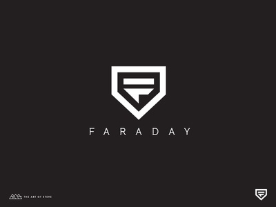 Faraday type symbol monogram mark logotype letterform letter illustration identity f design logo