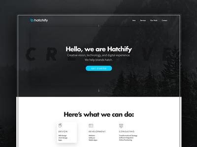 Hatchify Website portfolio work mockup case study hatchify icon landing desktop design agency website